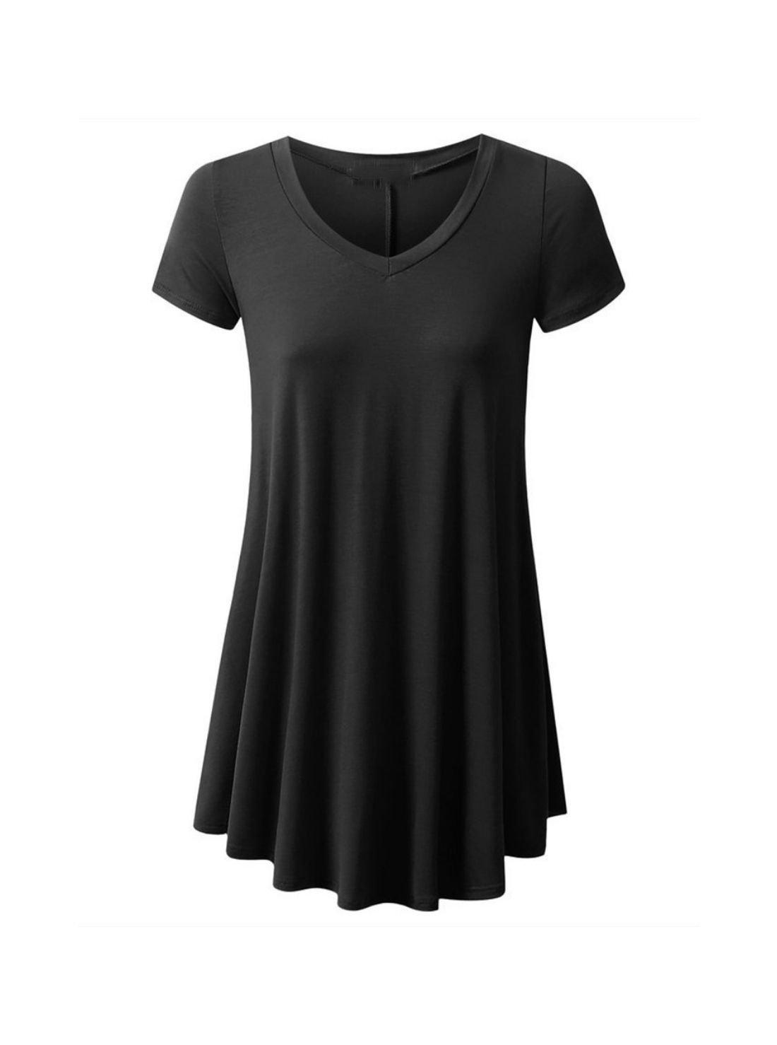 Wholesale Ladies V-neck T shirt Dresses