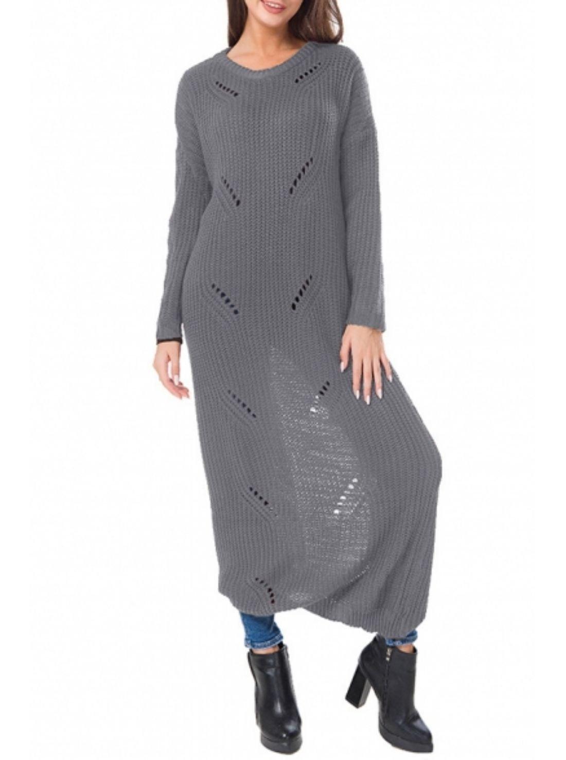 Wholesale Long Plain Sweater Dresses