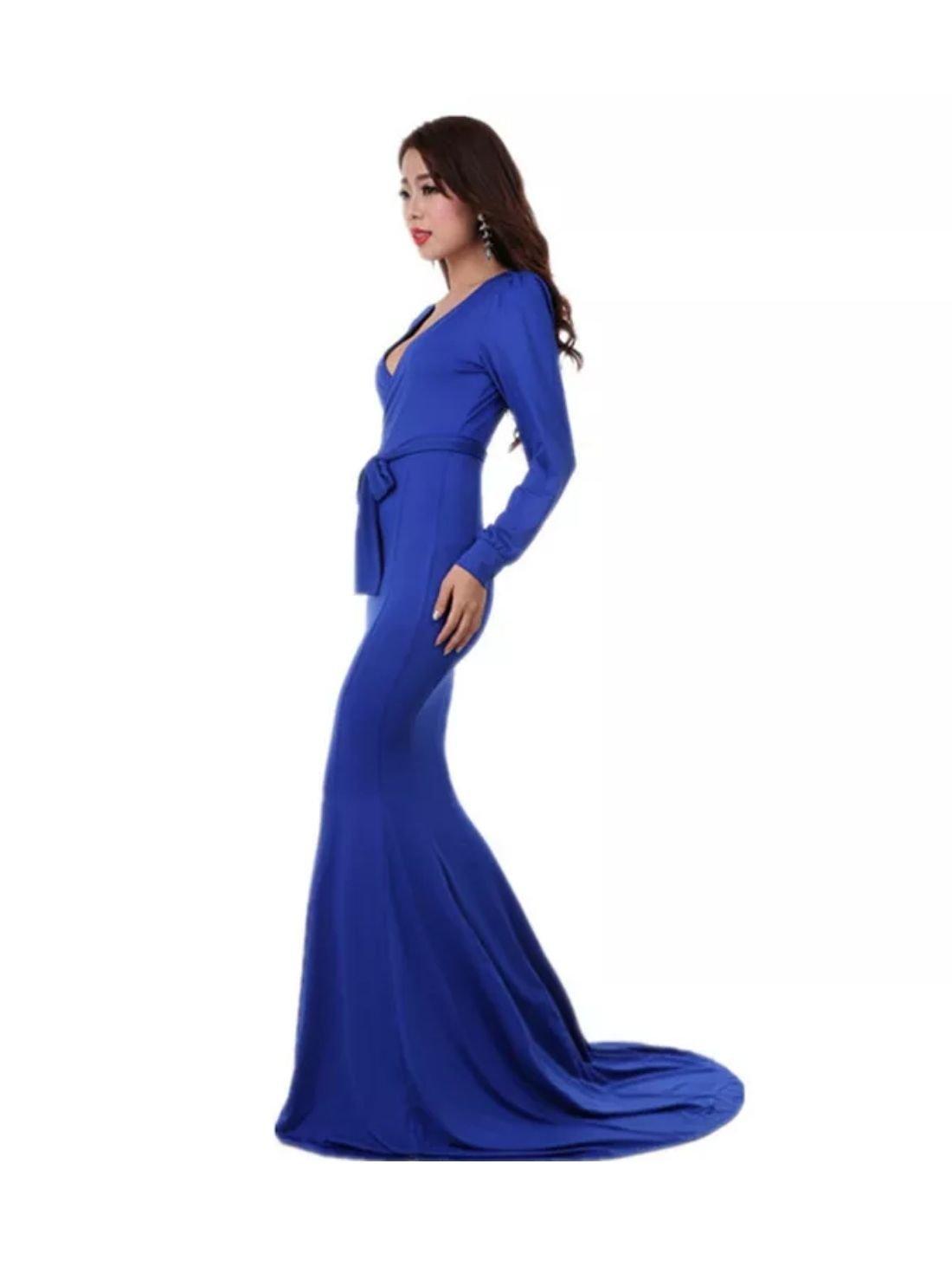 Wholesale Long Sleeve Mermaid Evening Dress