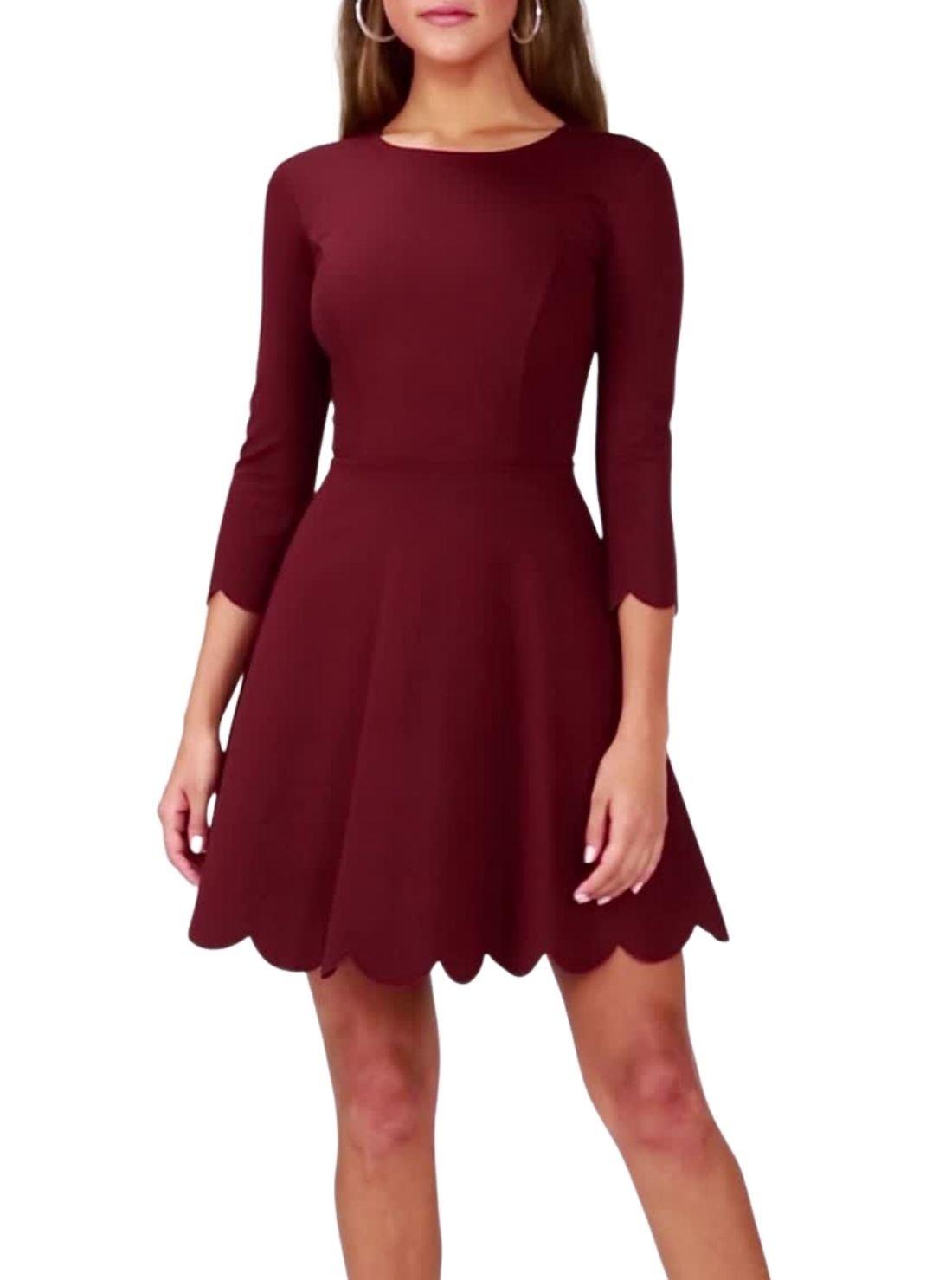 Wholesale Long Sleeved Skater Dresses