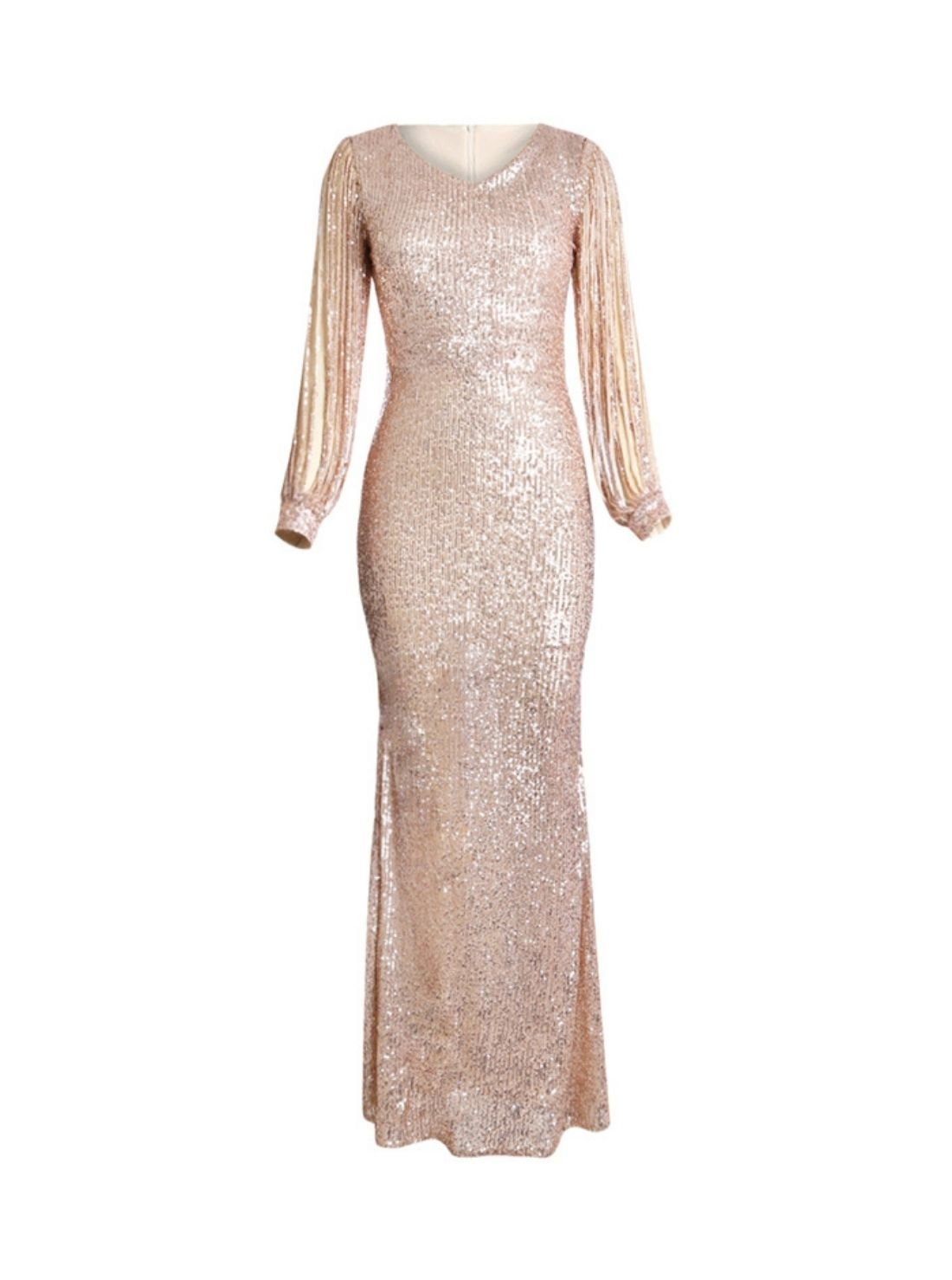 Wholesale Maxi Sequin Evening Dress