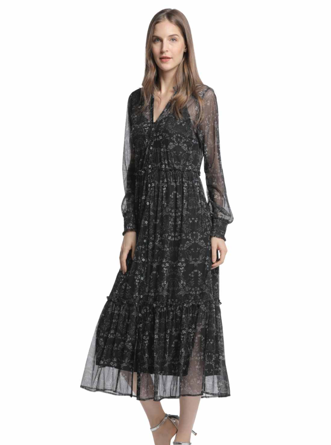 Wholesale Pleated Midi Dress