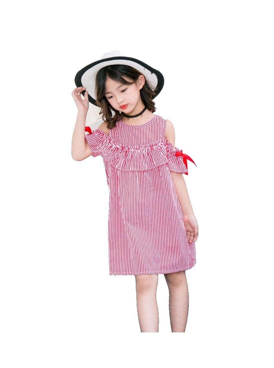 Wholesale Round Neck Linen Short Sleeves Dress