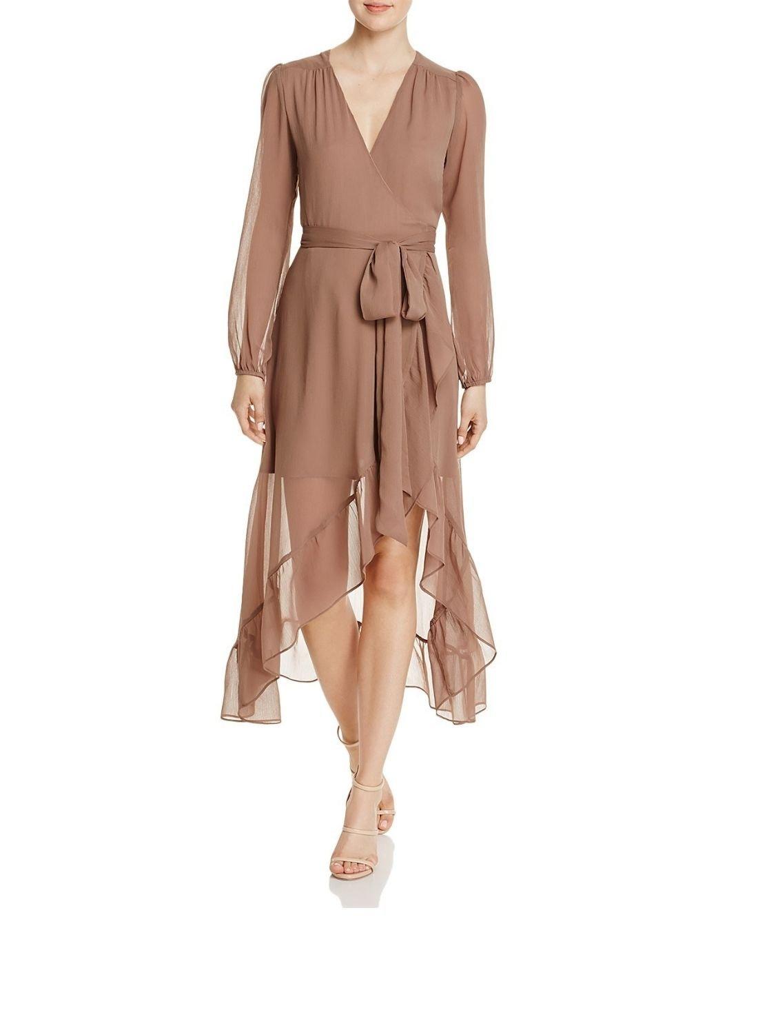 Wholesale Summer Chiffon Women Ruffle Wrap Dress