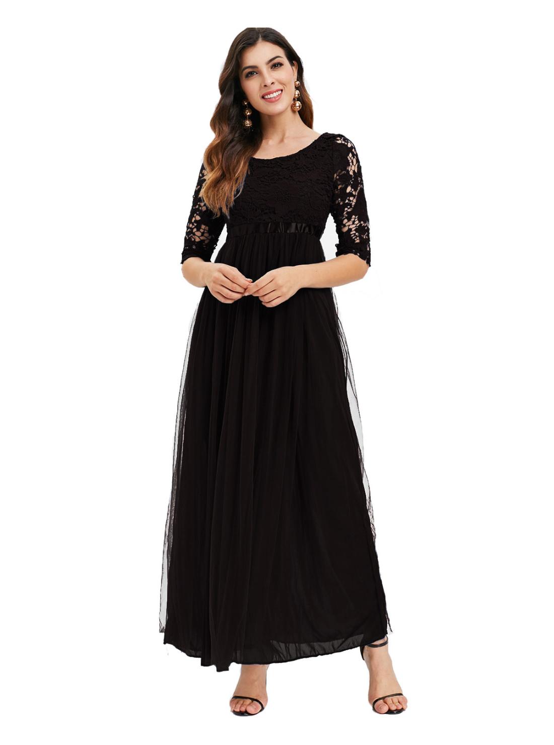 Wholesale Vintage Midi O-Neck Dress