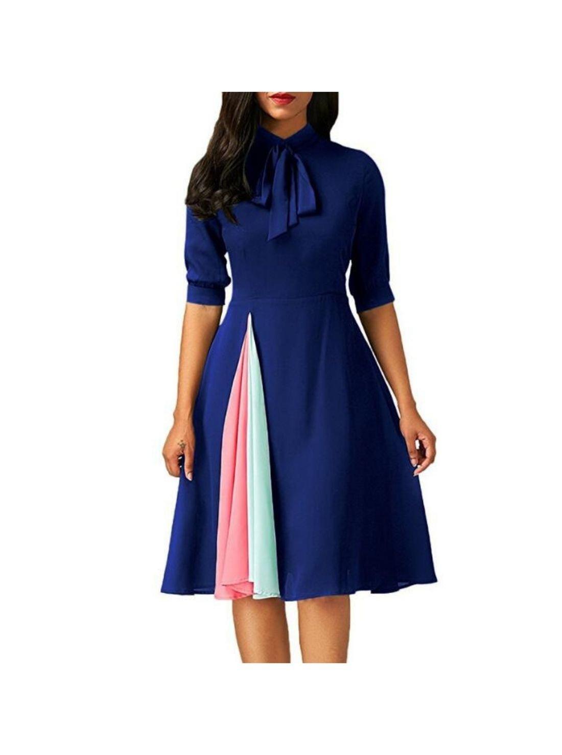 Wholesale Vintage Style A Line Bowknot Dress