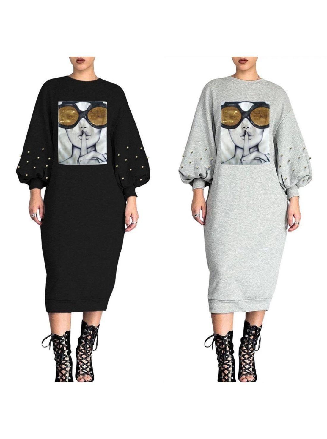 Wholesale Winter Street Women Casual Dress