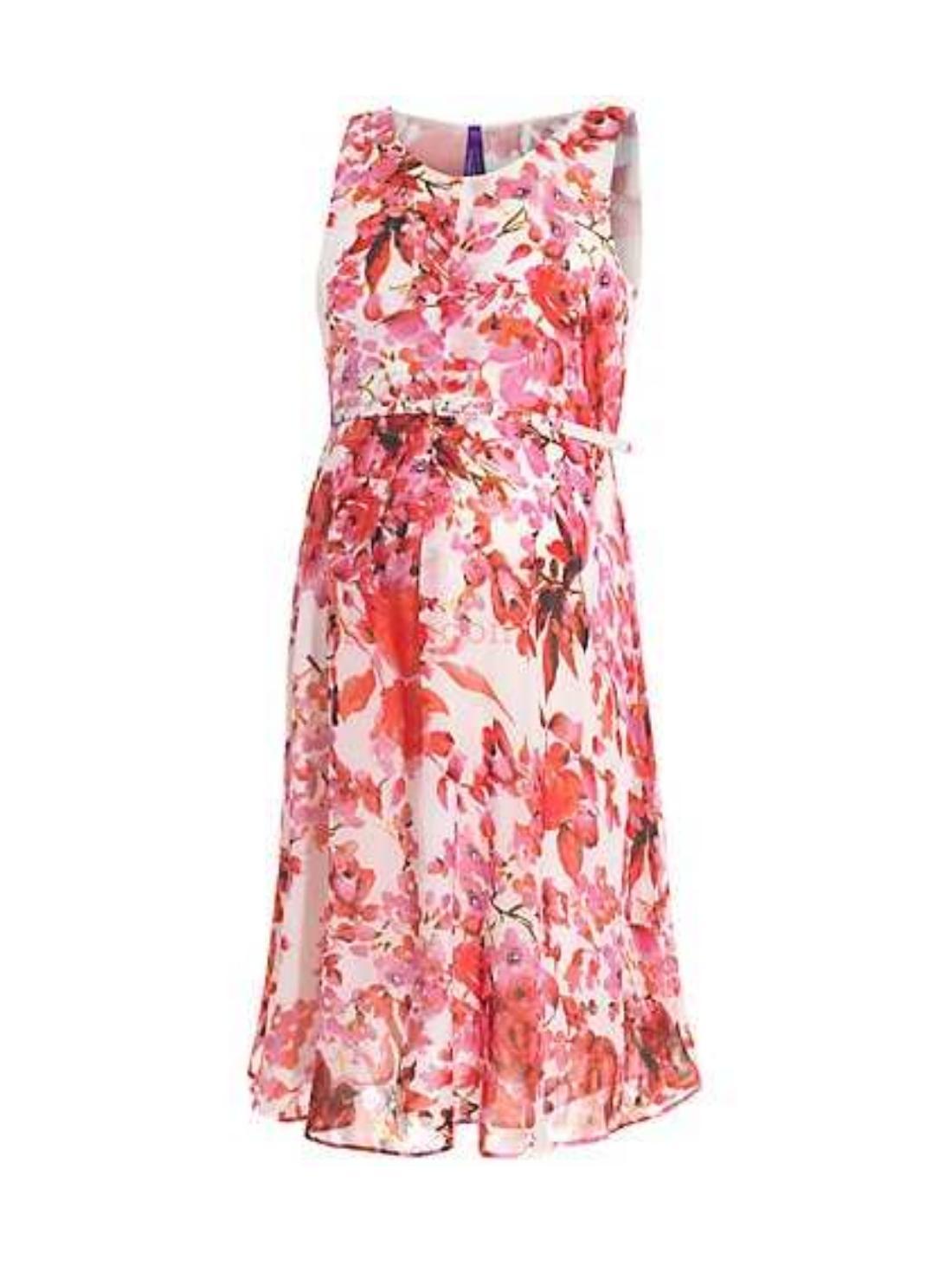 Wholesale Women Oasis Ruffle Chiffon Shift Dress