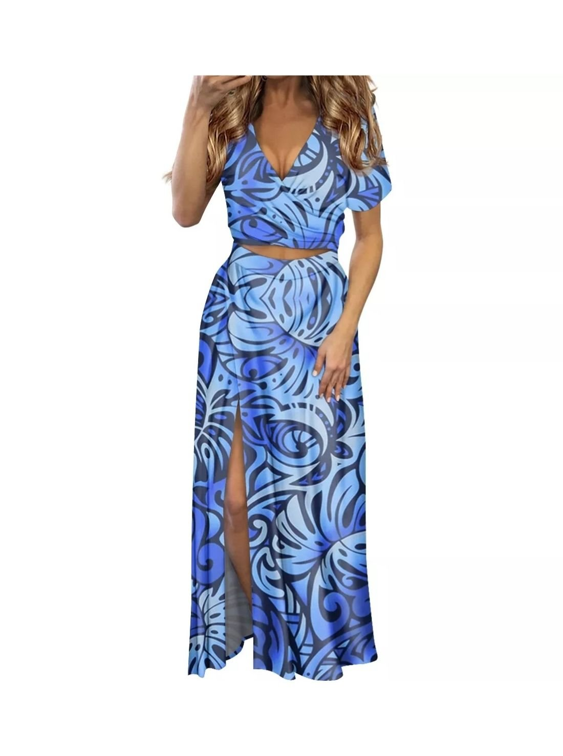 Wholesale Women's Christmas Wrap V-neck Dress