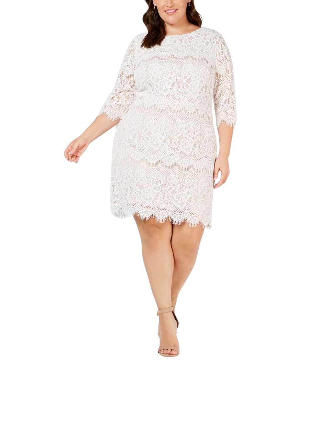 Women Plus Size Dresses White Dress (1)