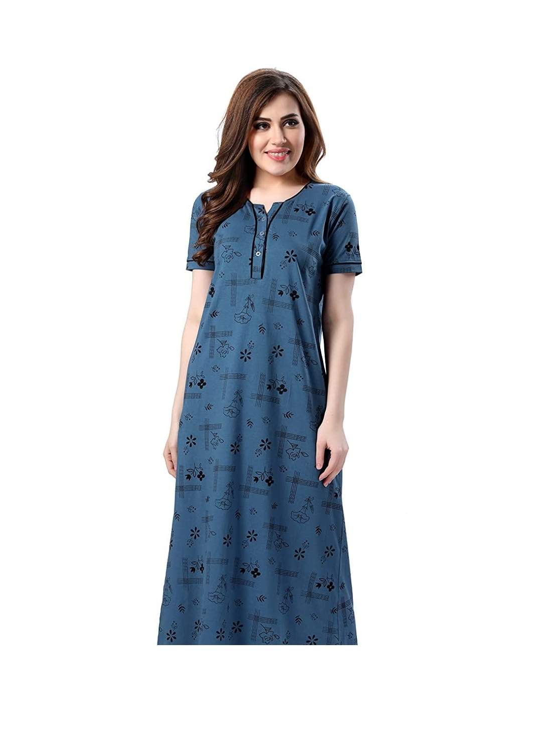 Women Printed Cotton Nightwear
