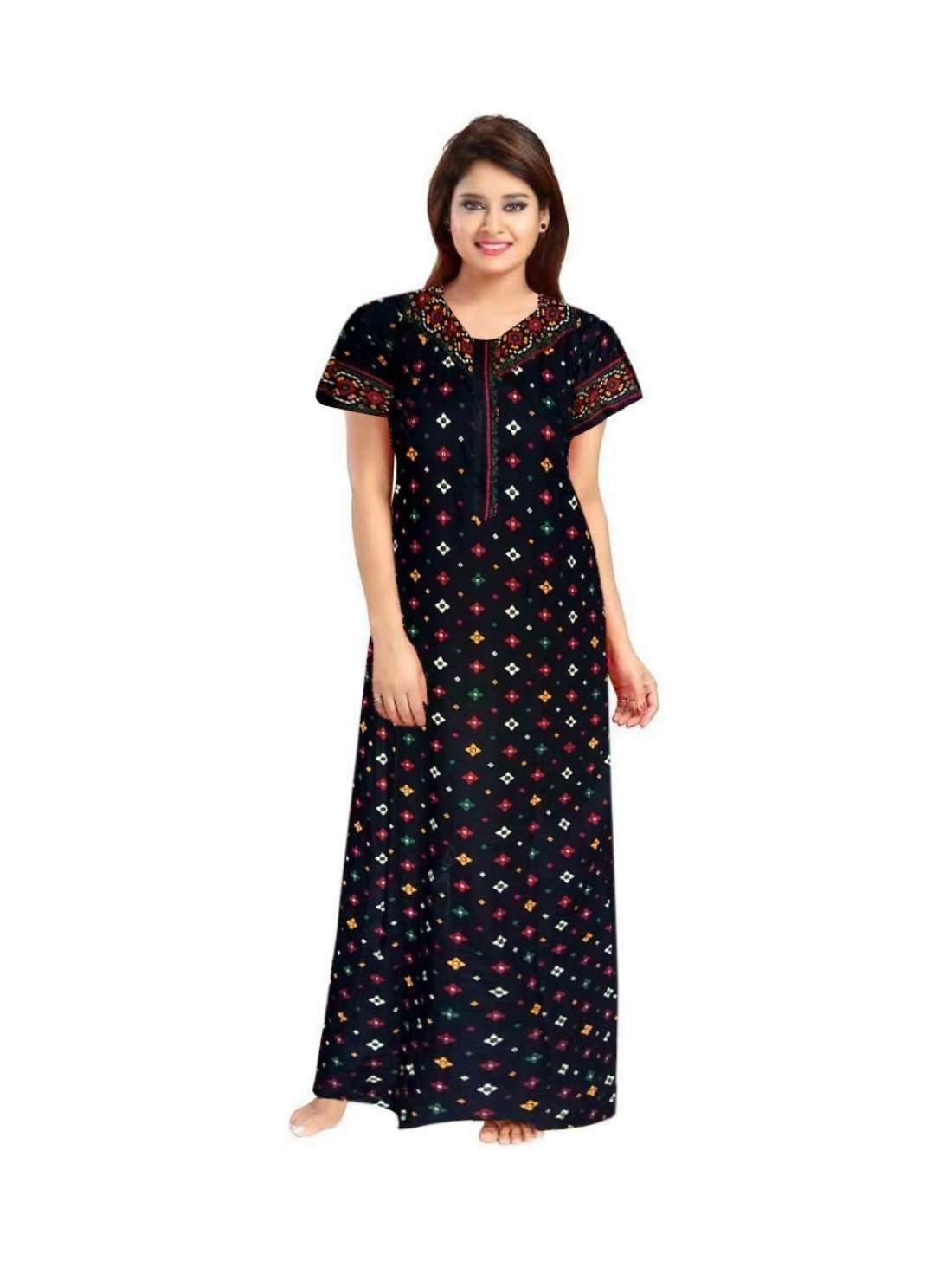 Women's Cotton Printed Night Gown