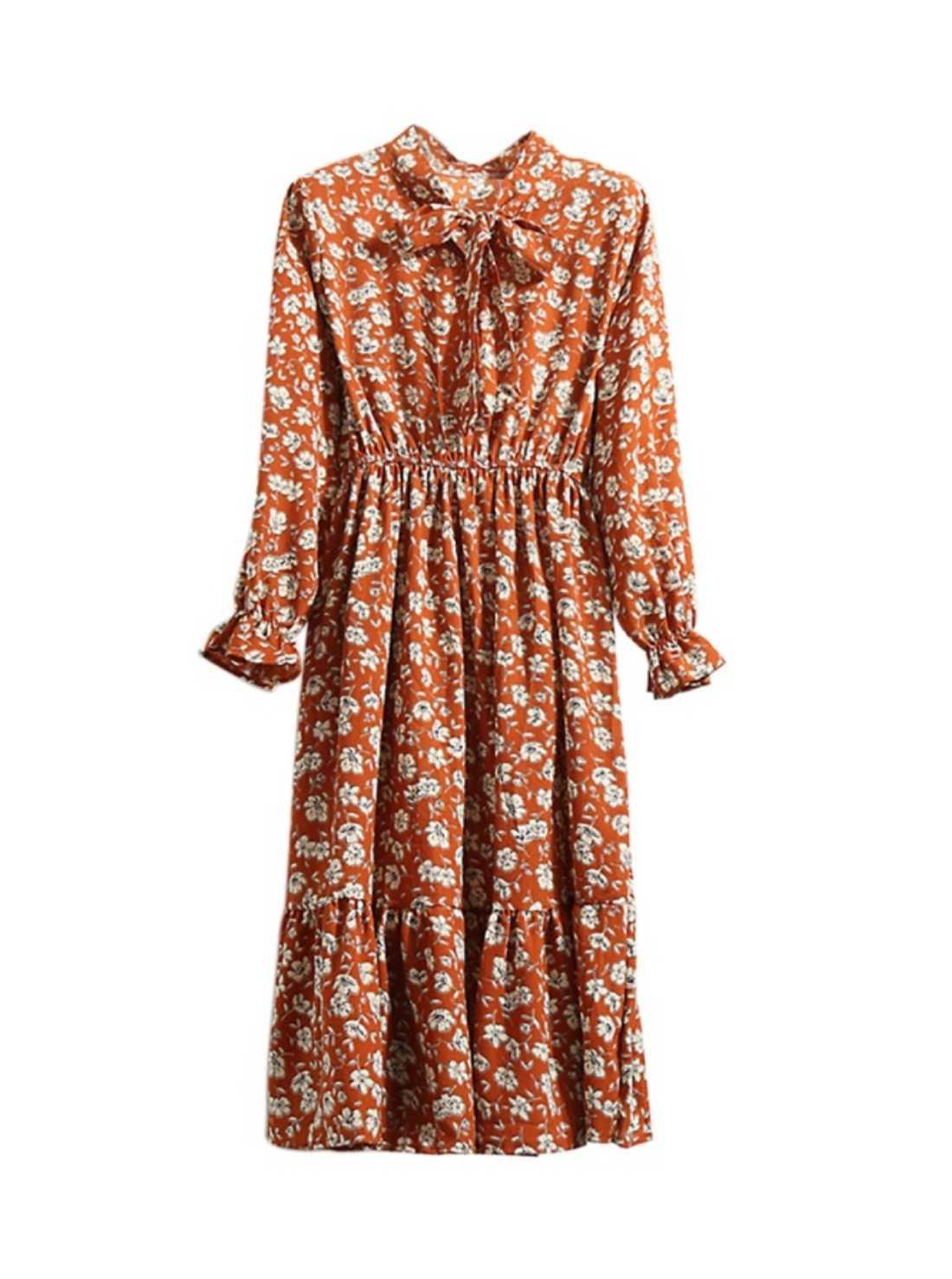 Women's Floral Chiffon Dress