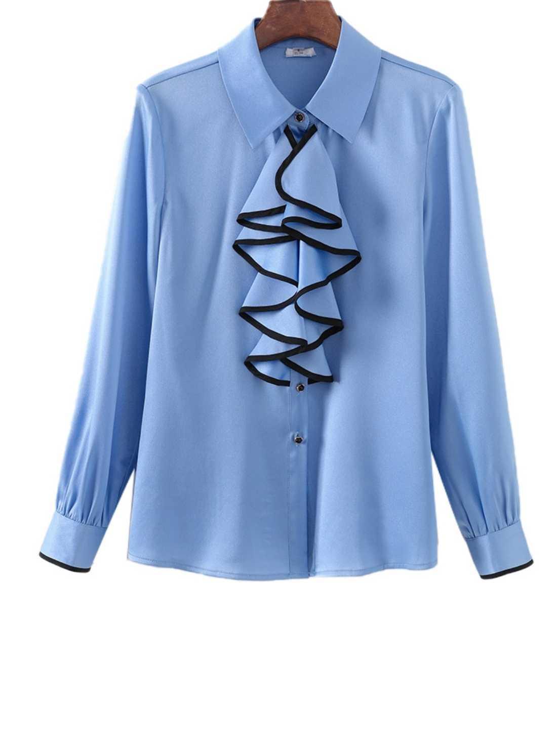 Women's Plain Long Sleeve Blouses